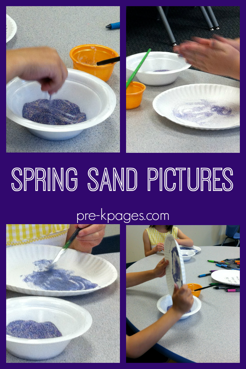 spring sand pictures for preschoolers