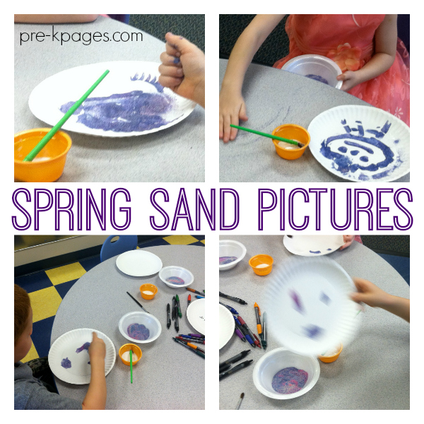 spring sand pictures pre-k