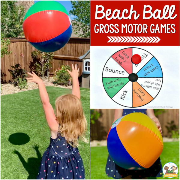 Beach Ball Gross Motor Game pre-k