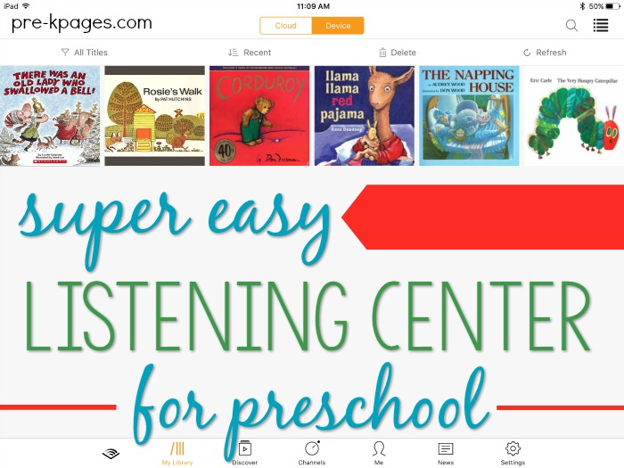 Easy Listening Center for Preschool