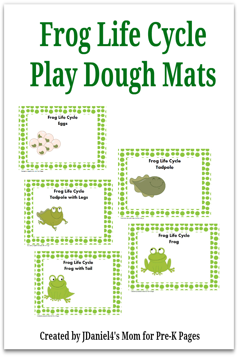 image regarding Frog Life Cycle Printable referred to as Frog Lifestyle Cycle Perform Dough Recreation - Pre-K Internet pages