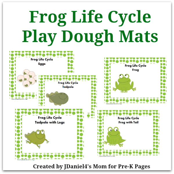 Frog Life Cycle Play Dough Mats