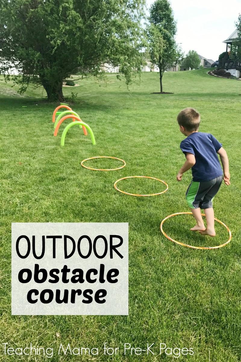 Outdoor Obstacle Course preschool