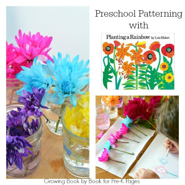 patterning flowers pre-k spring