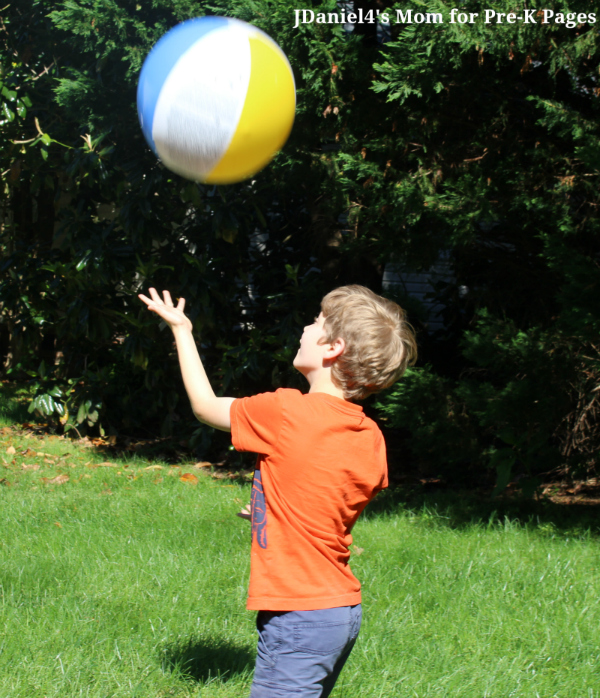 beach ball gross motor one hand