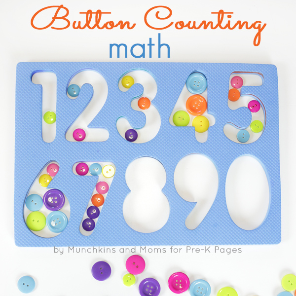 button counting math activity pre-k
