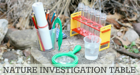 Science for Kids: Nature Investigation Table