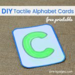 DIY Tactile Alphabet Cards Printable