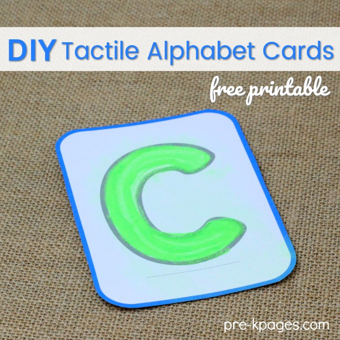 photo regarding Alphabet Cards Printable called Printable Do it yourself Tactile Alphabet Playing cards - Pre-K Webpages