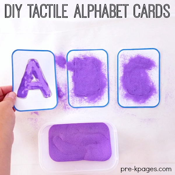 Make Tactile Alphabet Cards