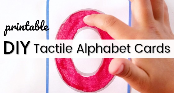 Tactile ABC Cards Printable