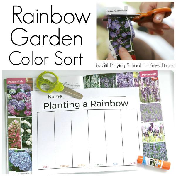 planting a rainbow activity pre-k