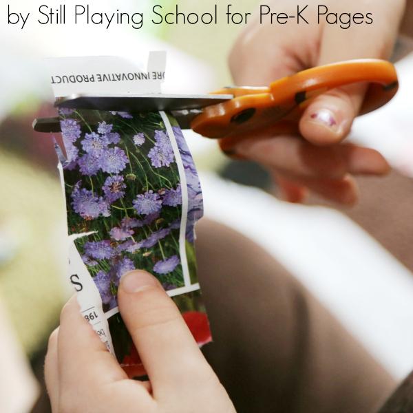 spring cutting scissors preschool
