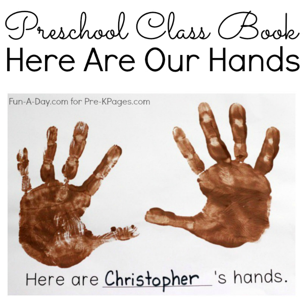 DIY class book for preschool