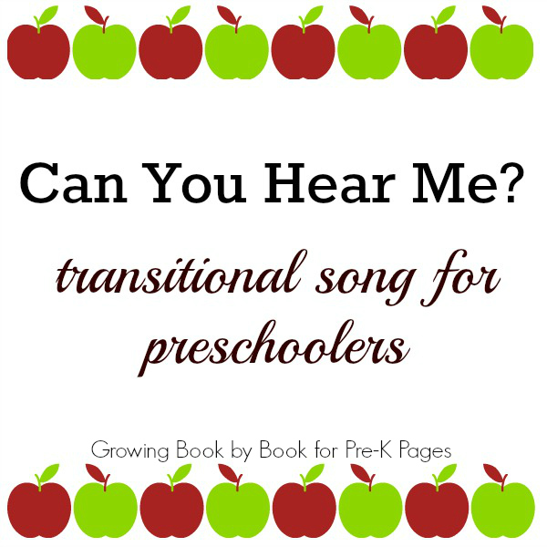 transitional song pre-k