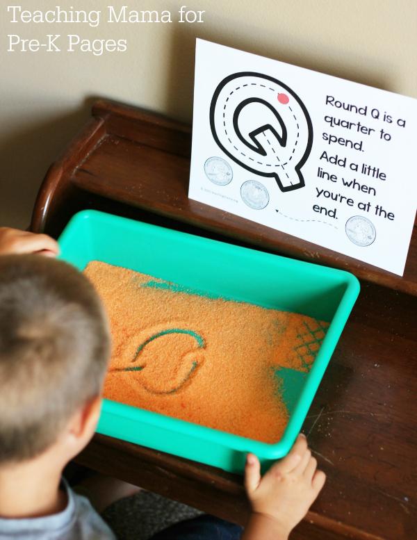 writing letter practice kindergarten