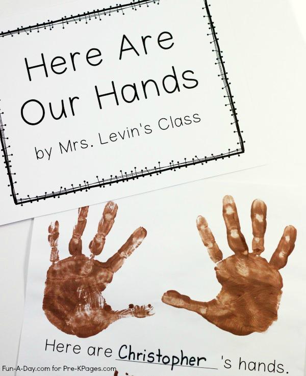Homemade Preschool Class Book