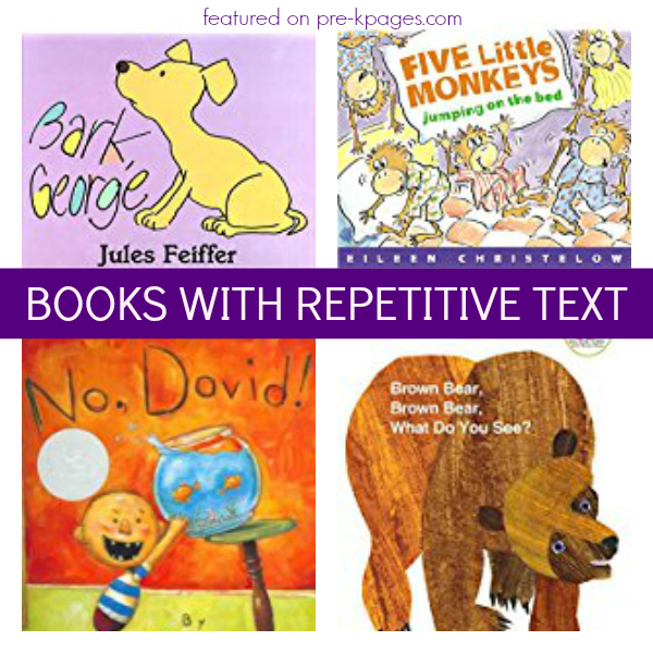 Books With Repetitive Predictable Text Pre K Pages