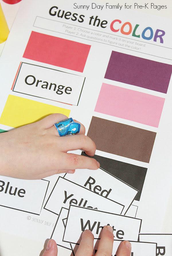 color words game kindergarten