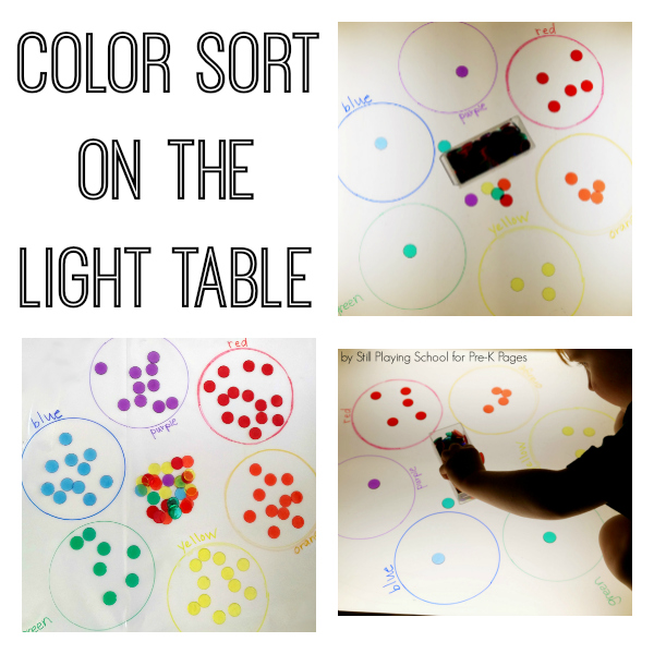color sort on the light table