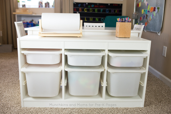 morning work boxes pre-K