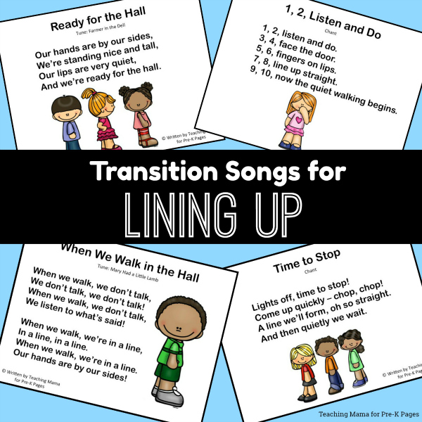 transition pre-k line up