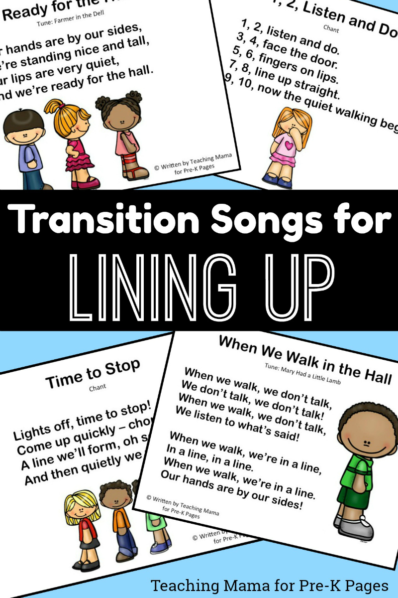 lining up songs for preschool