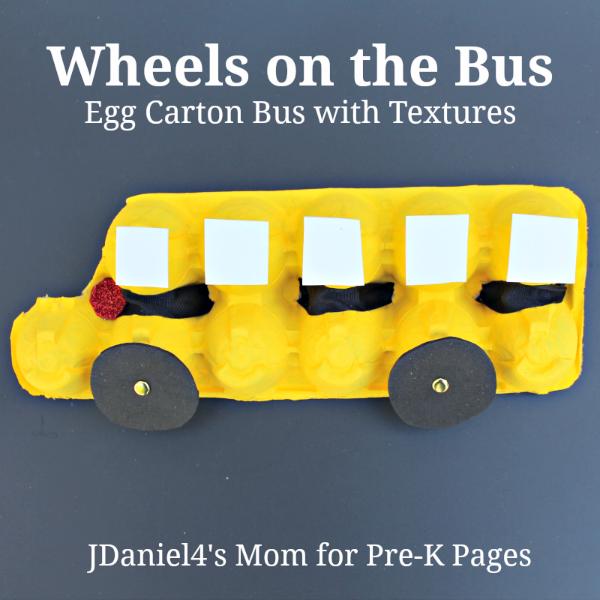 school bus art craft for pre-k