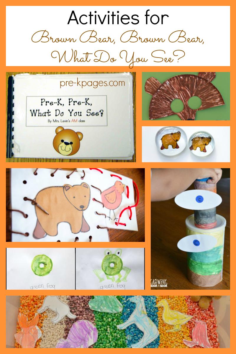 brown bear brown bear activities for preschool