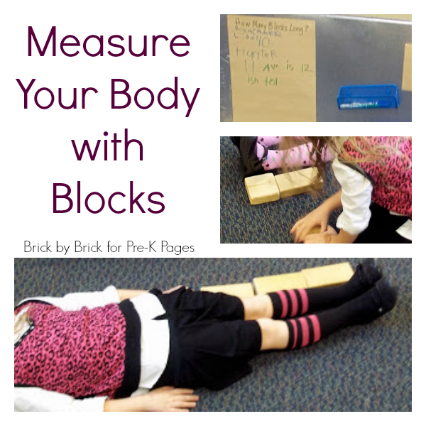 measure body with blocks pre-k