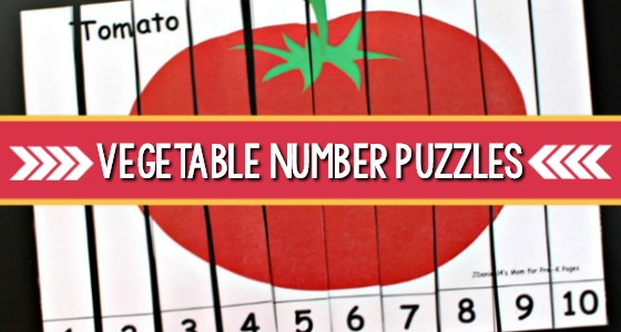 Vegetable Number Puzzles For Kids