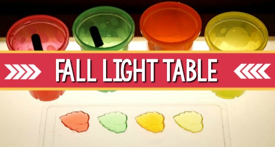 Fall Light Table activity for preschool