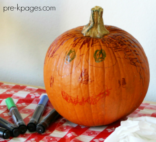 draw on pumpkin