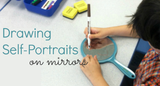 drawing face on mirror preschool