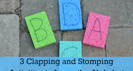 3 Clapping and Stomping Alphabet Activities