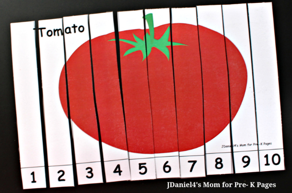 vegetable numeral puzzle
