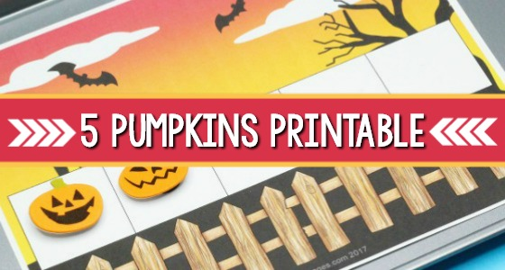 Five Pumpkins Printable
