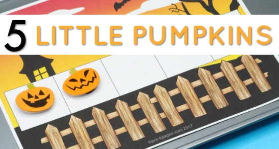 Printable 5 Little Pumpkins Counting Printable for Halloween