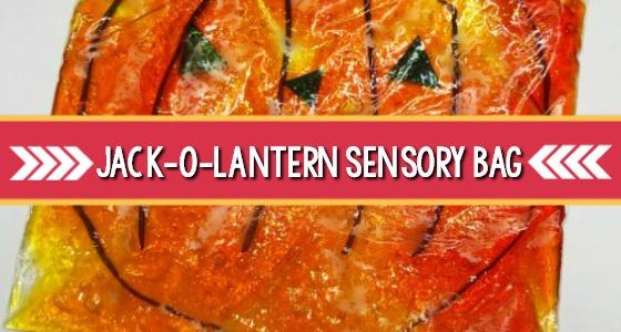 Jack-O-Lantern Sensory Bag