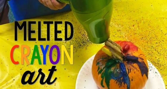 Crayon Melted Pumpkin Craft