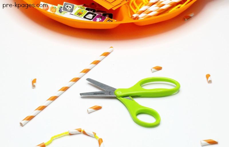 Halloween Cutting Practice Activity for Preschool