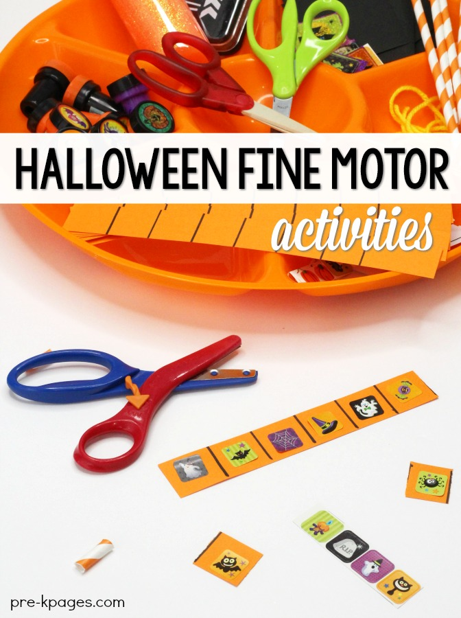 Halloween Fine Motor Activities for Preschool
