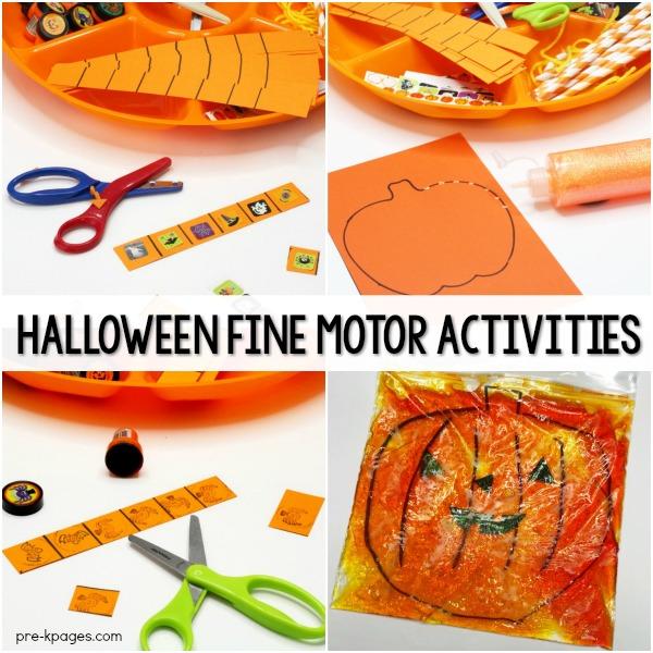 Halloween Fine Motor Activities for Preschoolers