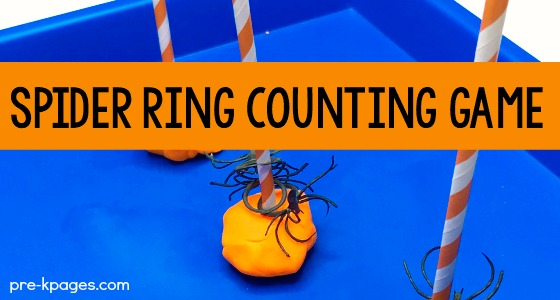 Halloween Spider Ring Counting Game