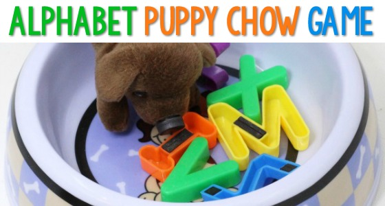 ABC Puppy Chow Activity for Preschool
