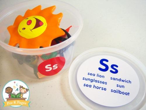 Alphabet Sounds Teaching Tubs