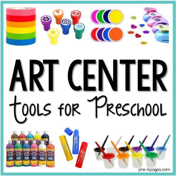 Art Center Supplies for Preschool Center