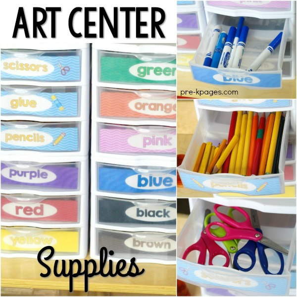 Art Center Supplies in Preschool