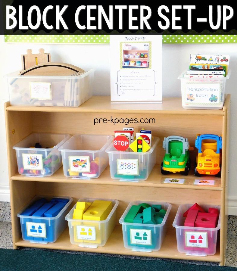 Block Center Set Up  in Preschool