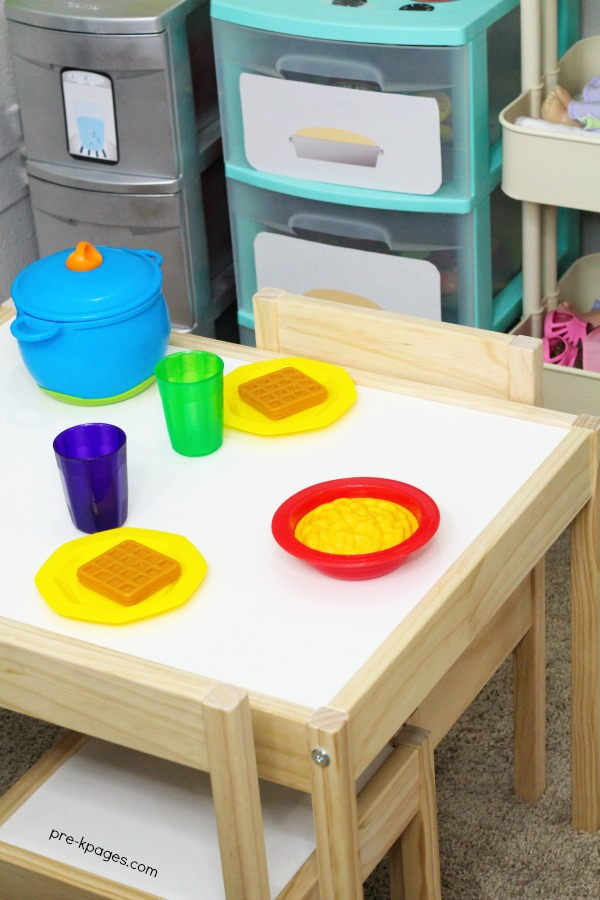 Ikea Latt Table for Dramatic Play Center in Preschool
